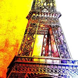 Eiffel Tower Glowing by Irving Starr