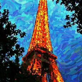 Eiffel Tower Impressionist by John Malone