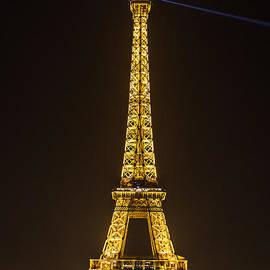 Eiffel Tower in Gold by Rhonda Krause