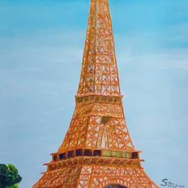 Eiffel Tower In The Spring by Irving Starr