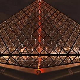 Eiffel Tower Lights Up Pyramid by Edna Weber