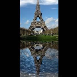 Eiffel Tower Mirror Illusion by Kelly Schutz
