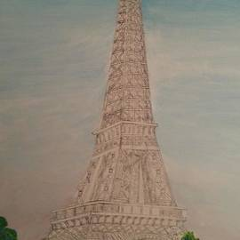 Eiffel Tower Morning mm by Irving Starr