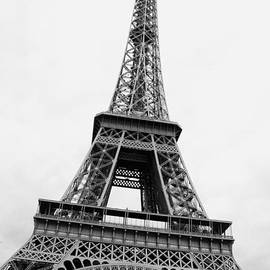 Eiffel Tower Perspective - Black and White by Carol Groenen