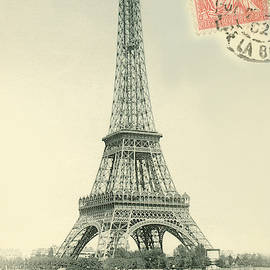 Eiffel Tower Stamped by Alan Paul