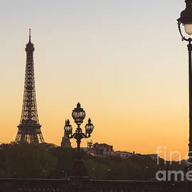 Eiffel Tower Sunset by Rhonda Krause