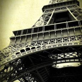 Eiffel Tower Textures in Sepia 2 by Carol Groenen