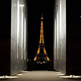 Eiffel Tower Though Peace Monument by Michael Riley