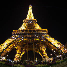 Eiffel Tower Twinkling at Night by Michael Graham