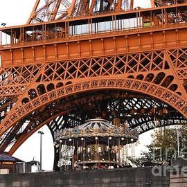 Eiffel Tower with Carousel by Freda Sbordoni