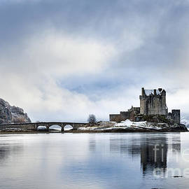 Eilean Donan castle after a winter storm by Justin Foulkes