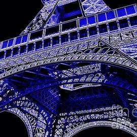 Electric Blue Eiffel Tower  by Carol Groenen