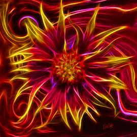 Nikki Marie Smith - Electric Firewheel Flower Artwork