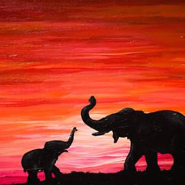 Deanna Millard - Elephant and Baby