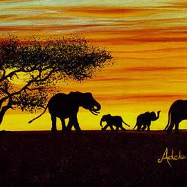 Adele Moscaritolo - Elephant Silhouette