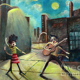 Elvis and Phyllis Diller Meet In St. Louis On A Moonlit Night As Sock Monkeys