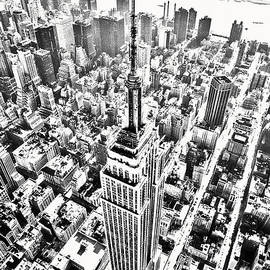 Empire State Building HDR BW by Kim Lessel