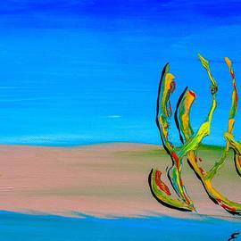 Eliza Donovan - Empty Beach in Tel Aviv Abstract Seascape
