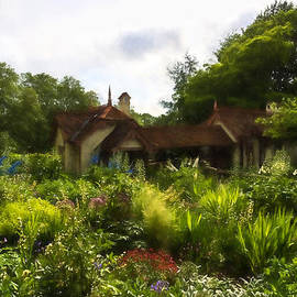 English Cottage Garden - Lush Summer Green in Watercolor by Georgia Mizuleva