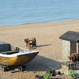 David Hill - English Seaside History - Fishing Boat and Equipment on the Beach