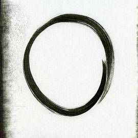 Marianna Mills - Enso #2 - Zen Circle Abstract Black and Red