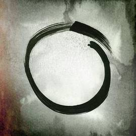 Marianna Mills - Enso #3 - Zen Circle Abstract Red and Black