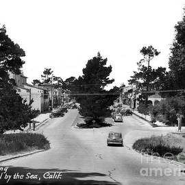 Entering Carmel By the Sea Calif. Circa 1945 by California Views Archives Mr Pat Hathaway Archives