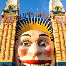 Entrance to Luna Park - Sydney - Australia by David Hill