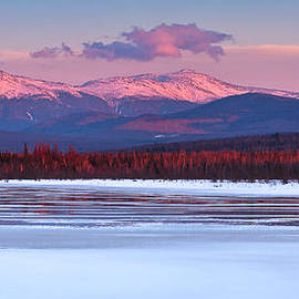 Evening Light On The Presidential Range. by Jeff Sinon