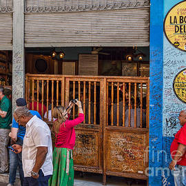La Bodeguita in Havana - Good Time For All At Hemmingway Bar by Les Palenik