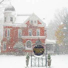 Edwards Waterhouse Inn In Winter by Jeffrey Peterson