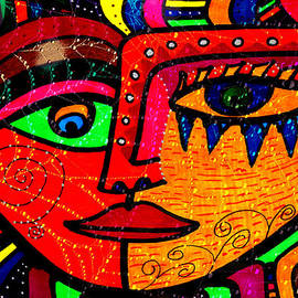 Facing What Comes - Abstract Face by Marie Jamieson