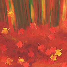 First Star Art - Fall Forest Floor by jrr
