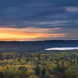 Fall sunset in wilderness by Elena Elisseeva
