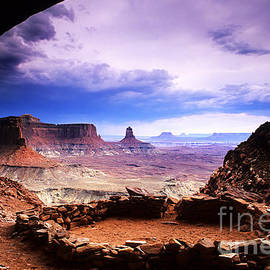 False Kiva Canyonlands Utah by Bob Christopher