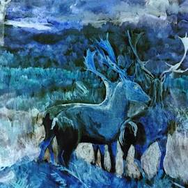 Karen Harding - Fantasy Forest Deer