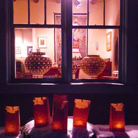 Farolitos or Luminaria Below Window 4 by Tamara Kulish