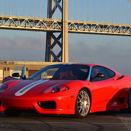 Ferrari under SF Bay Bridge by Dean Ferreira