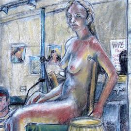 Samantha Geernaert - Figure Drawing- Primary Colors