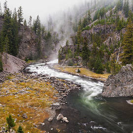 Firehole Canyon - Yellowstone by Brian Harig