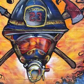 Fireman Graffiti by Steven Parker