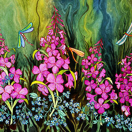 Teresa Ascone - Fireweed and Dragonflies
