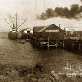 Fishermans Wharf Monterey circa 1920 by California Views Archives Mr Pat Hathaway Archives