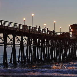Fishing off the Oceanside Pier by Richard Cheski