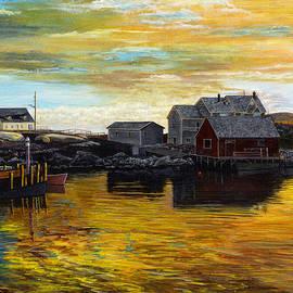 Fishing village Maine  by Stuart B Yaeger