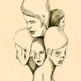 Five Headed Figure by Sam Sidders