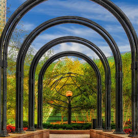 Arched Pathway To City Park Cleveland Ohio