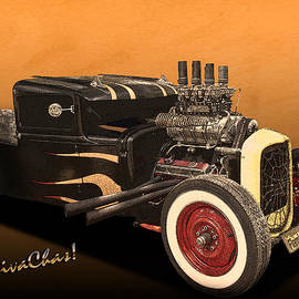 Flaming Rat Rod by Chas Sinklier