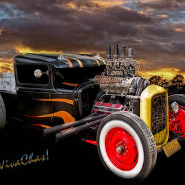 Flaming Rat Rod River Side Picnic by Chas Sinklier
