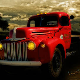 Ford Flatbed Truck at Hevenor Lumber by Chas Sinklier